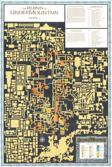 The Ruins of Undermountain - Level 01 (370×552)   Maps   Dungeon