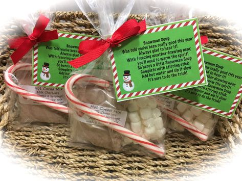 Snowman Soup Gifts Hot Cocoa gift Christmas by MonisMasonCreations
