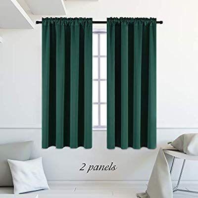 Amazon Com Donren Hunter Green Blackout Thermal Insulating Window
