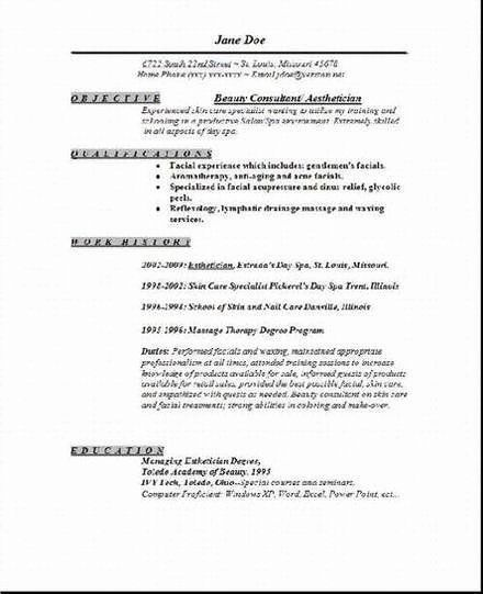 Esthetician Resume Cover Letter Beautiful Aesthetician Resume Occupational Examp Aesthetician Cover Letter For Resume Esthetician Resume Job Resume Samples