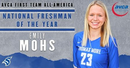 Mohs Named 1st Team All American One Team Freshman Coaching Volleyball