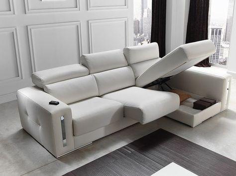 Sabrina Italian Reclining Leather Corner Group Sofa Blanco White In 2020 Leather Corner Sofa Best Leather Sofa Sofa