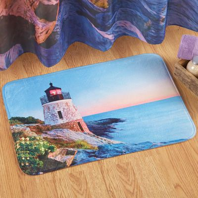 Lighthouse Bay Nautical Theme Bath Mat Beautiful Bathroom