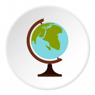 Globe Icon Flat Style Globe Icons Style Icons Globe Png And Vector With Transparent Background For Free Download In 2021 Globe Icon Globe Vector Circle Map