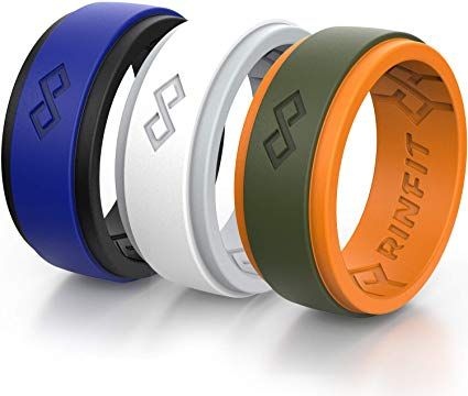 Amazon Com Rinfit Silicone Wedding Ring For Men 1 Or 3 Rings Pack Rinfitair Breathable Des In 2020 Rubber Rings For Men Mens Rubber Wedding Band Mens Wedding Rings