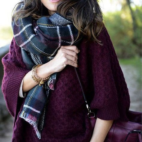 Ashlynn Double Sided Plaid Shawl  Dress bold and fun with this cold-weather go-to scarf.  Many styles possible, let it be your everyday scarf. (Free Postage!)  • Reversible  Material: Woolen Cotton blend  *kindly check our sizing guide below for a fabulous fit. $ 30