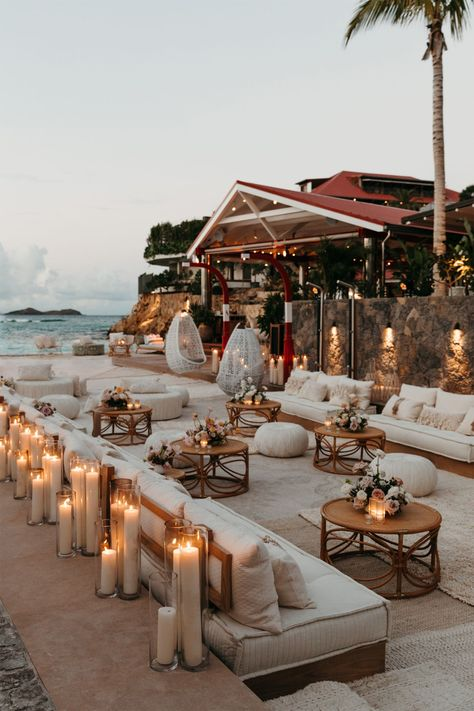 Devon Windsor Weds In Seaside St Barths Wedding - Modern Wedding inspo reception Devon Windsor Weds In Seaside St Barths Wedding - Modern Wedding Destination Wedding, Wedding Planning, Seaside Wedding, Wedding Destinations, Beach Wedding Reception, Summer Wedding Venues, Sunset Beach Weddings, Wedding Lounge, Florida Wedding Venues