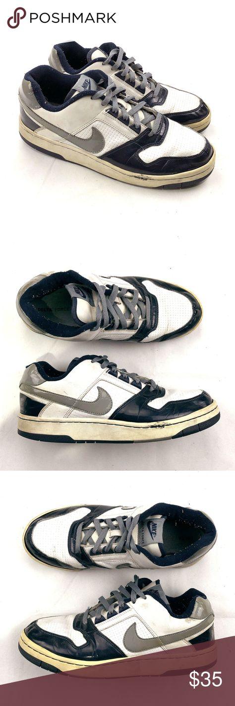 Vintage Nike Air Delta Force Low Navy Silver 10.5 Vintage