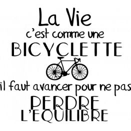 Stickers Citation Bicyclette