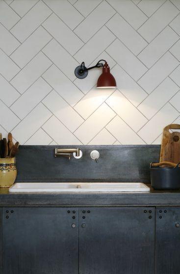 Goede Kitchenwalls behang keukenachterwand Visgraat 3 kleuren (met TA-05