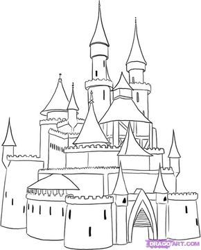 How To Draw A Medieval Castle By Dawn Castle Drawing Castle