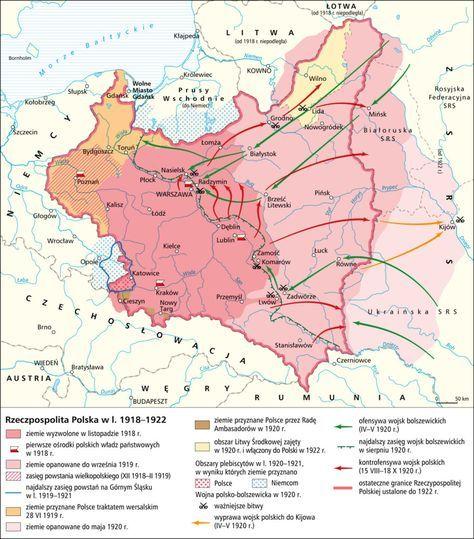 Rzeczpospolita Polska W L 1918 1922 Historical Maps Poland