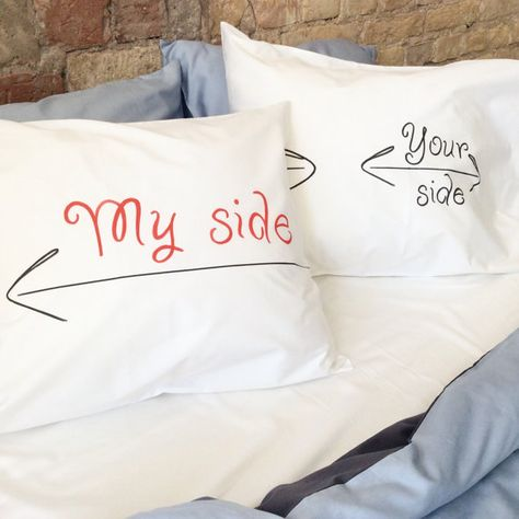 My side your side Couple pillowcases