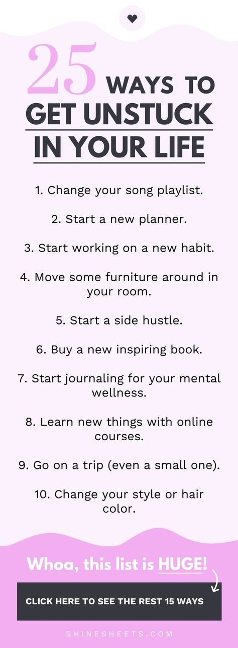 How to get unstuck in your life and start feeling motivated & productive again. | ShineSheets.com | Personal development, Mental health, Motivation, Productivity, Habits, Self help, Self improvement, Get motivated, Stop procrastination, Stop being lazy, Change your mood, Positivity, Willpower, Self care, Life tips, Millennial, Advice, Self improvement, Burnout recovery, Motivation, Get things done, negative thinking, mindset, self help, self development #mentalwellness #getunstuck #mindset