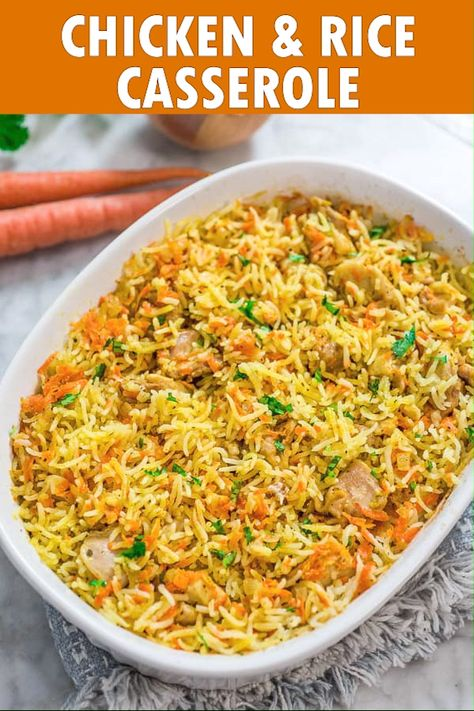 If you are looking for a simple, yet delicious and filling chicken dinner, this Chicken Rice Casserole is just what you need. FOLLOW Cooktoria for more deliciousness! #chicken #rice #dinner #lunch #mealprep #easyrecipe #recipeoftheday