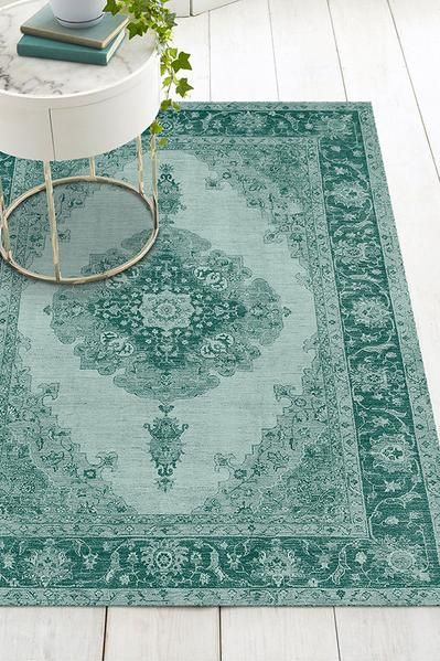 Victoria Teal Green Rug In 2020 Green Rug Washable Area Rugs Rug Stain