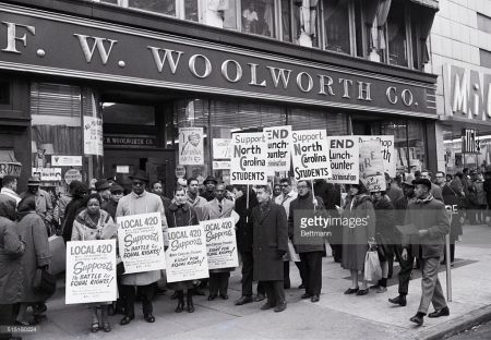 Pickets And Protests At A New York Woolworth S Civil Rights Movement Nonviolent Protest Civil Rights