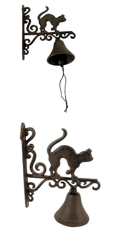 Antique Wooden Iron Brass Wall Mounted Door Bell Knockers Handicraft Home Decor