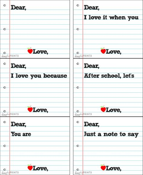 Lunch box notes! So classic.