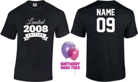9 Year Old Birthday Shirt Or Hoodie 2008 Kids Limited Edition 9th Party Years Youth Celebration