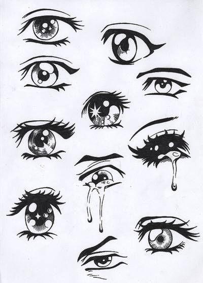 Easy Drawing Ideas Drawings Easy Anime Eyes Anime Drawings