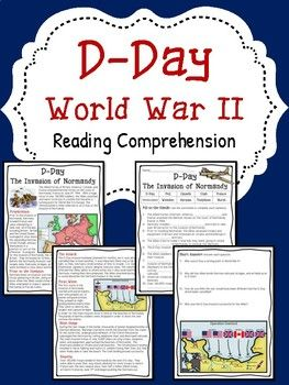 World War 2- D-Day (Invasion of Normandy) reading comprehension