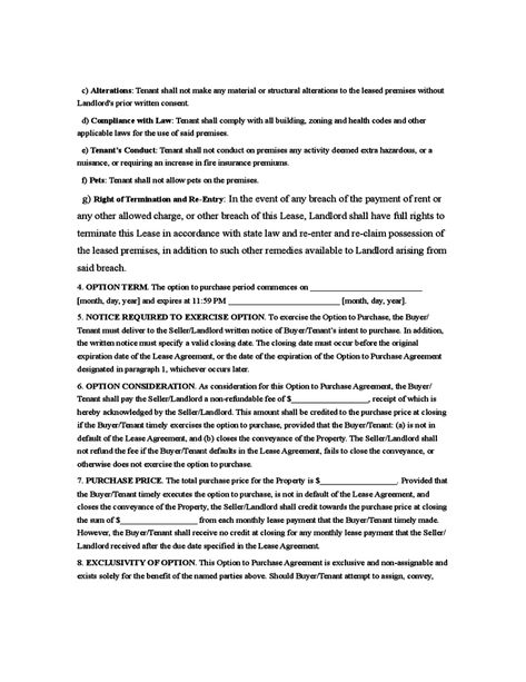 Rent to Own Agreement Sample Form Contracts Pinterest Templates - exclusivity agreement template