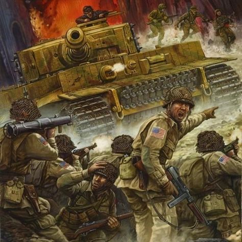 Paratroopers against tiger Waffen SS ~ BFD
