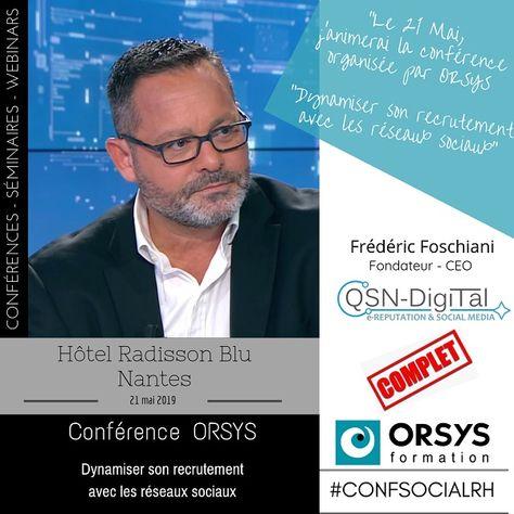 """Conférence: """"Dynamiser son recrutement avec les réseaux sociaux"""", par Frédéric Foschiani"""