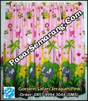 Jual Tirai Jendela Motif Jerapah Pink Pemesanan Melalui SMS 0857 9994 3044 Web kami di www.pasarsemarang.com
