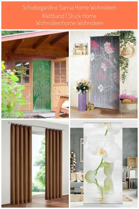 Deko Vorhang Conacord Flora Bambusstäbchen Länge 200cm Vorhang