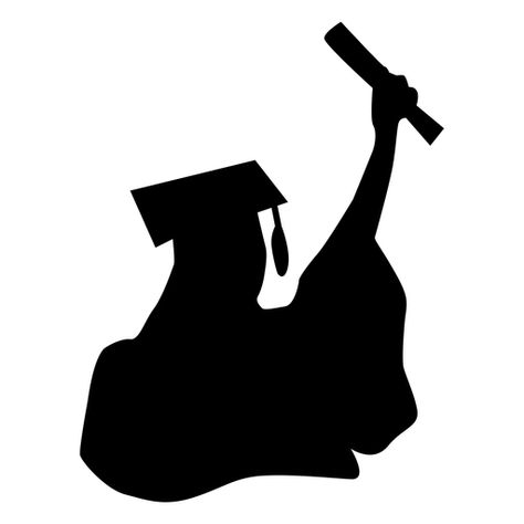 Graduate Square Academic Cap Graduating Student Happy Silhouette Ad Ad Sponsored Academic Square Silhouette Graduation Design Graduation Silhouette