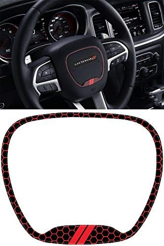 Steering Wheel Emblem Kit Compatible With 2015 2019 Dodge Charger 3d Domed Badge Overlay Decal T Dodge Charger Dodge Challenger Accessories Dodge Accessories