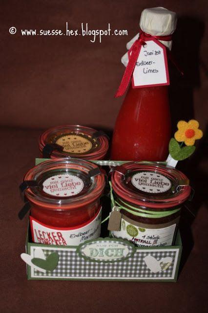 Kokos-Schoko-Kuchen im Glas I Geschenke aus der Küche I cake in a - geschenke für die küche