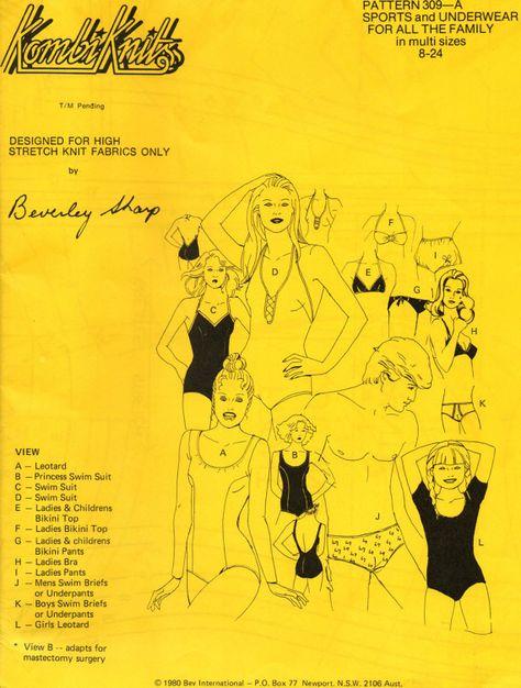 70s Womens Mens Boys Girls Bikinis One by allthepreciousthings