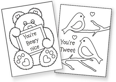 Free Printable Valentine S Cards To Color Very Cute Valentines
