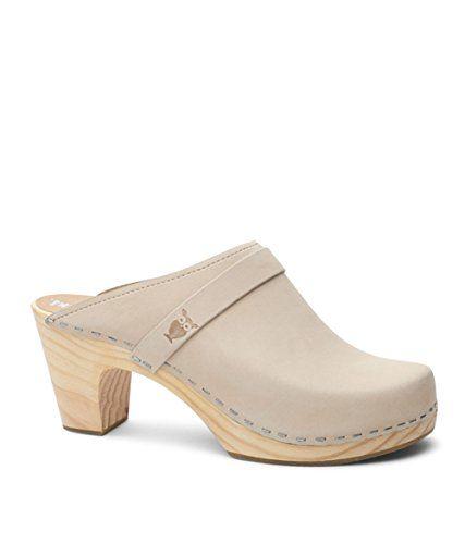 5dc7ae57897f4 #elegantshoegirl #peeptoeheels Must have Sandgrens Swedish Clog Mules High  Rise Wooden Heel for Women | Maya Sand, EU 37