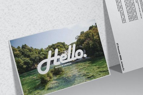 Postcard/Invitation - Mockup by raseuki on Envato Elements