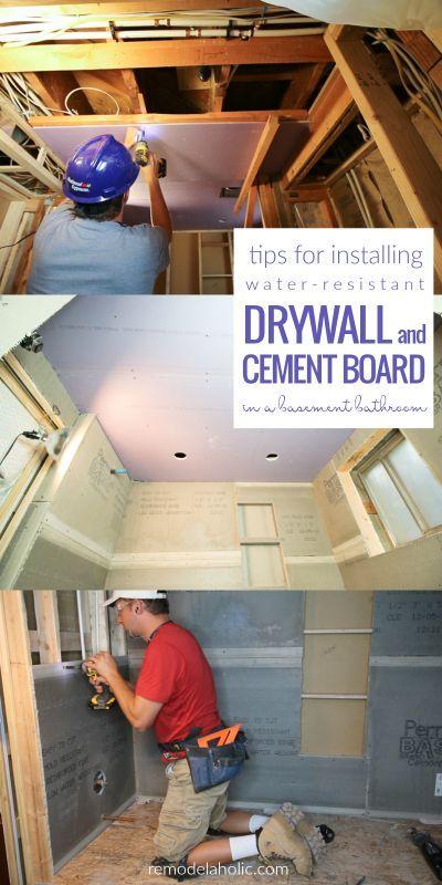 Basement Bathroom Drywall And Cement Board Installation