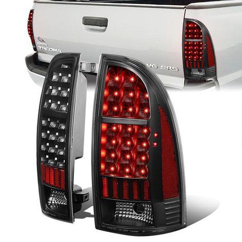 05 15 Toyota Tacoma Led Rear Brake Tail Lights Black Housing Tail Light