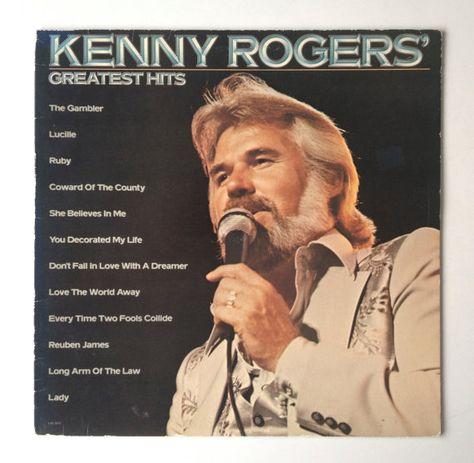 Kenny Rogers Greatest Hits Lp Vinyl Record Album Liberty Etsy Coward Of The County Greatest Hits Vinyl Record Album