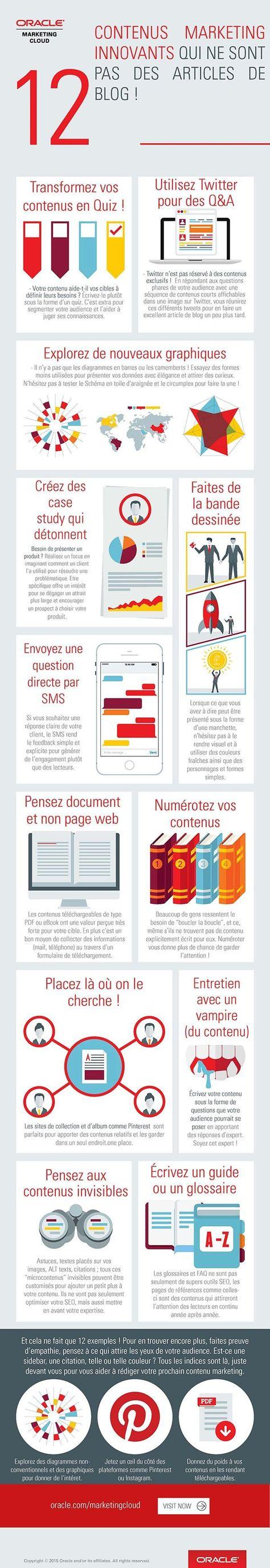 [Infographie] 12 contenus marketing innovants qui ne sont pas des articles de blog !