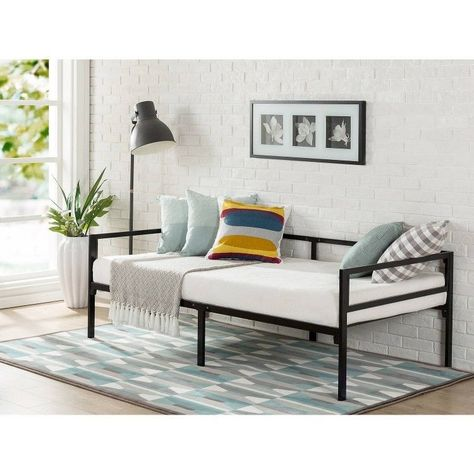 Details about White Metal Daybed Frame Contemporary Day Bed Twin ...