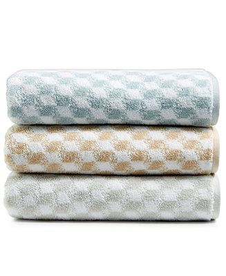 Hotel Collection Turkish Cotton Fashion Cube Bath Towel Collection