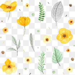 Vector Hand Painted Flowers Watercolor Flowers Yellow Flowers Png Transparent Clipart Image And Psd File For Free Download Flower Graphic Free Watercolor Flowers Flower Illustration