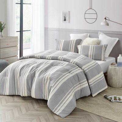 Breakwater Bay Ariton Reversible Comforter Set Size Queen Comforter 2 Shams Comforter Sets Grey Comforter Bedroom King Comforter Sets