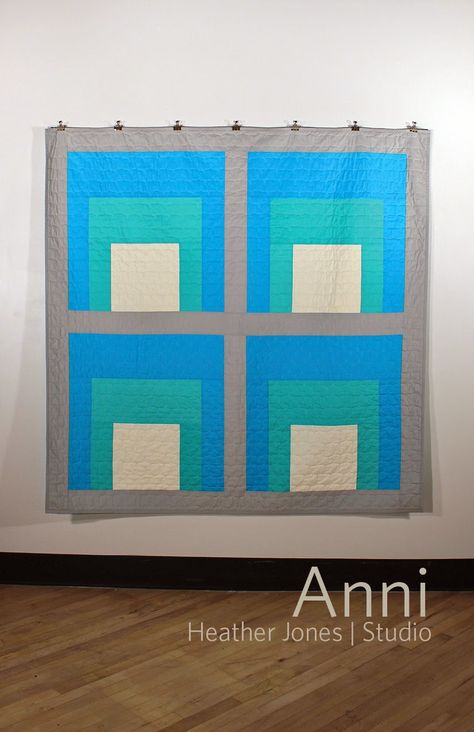 Anni quilt pattern from Heather Jones using American Made Brand solids