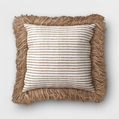 Outdoor Decorative Throw Pillow White Brown Opalhouse In 2020