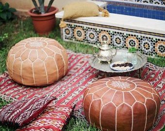 Discover The Best Quality Moroccan Leather Pouf 50 Off Moroccan