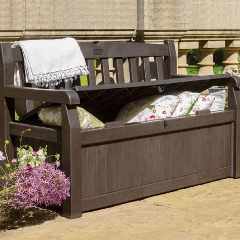 Deck Or Patio Storage Outdoor Bench Seat Cushion Store All Weather